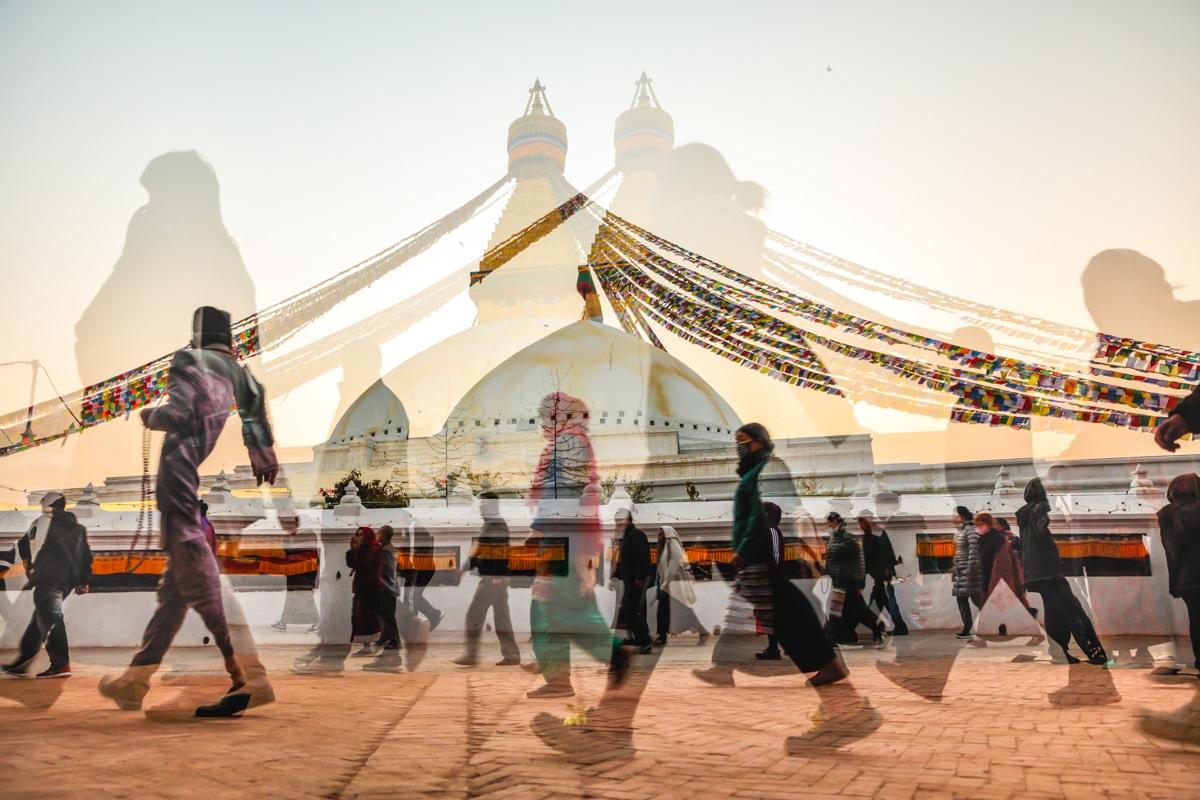 Boudhanath Stupa, bracketing, Canon EOS 5D Mk4
